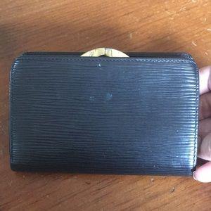LV French black epi wallet